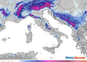Mappe meteo previsione neve Italia.