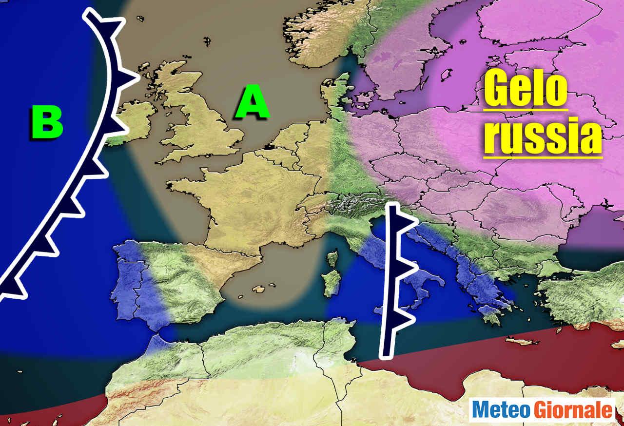 meteo con insidiose ondate di gelo - Meteo con GELO da est in bilico verso Italia per ANTICICLONE europeo