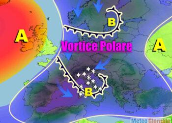 Meteo con irruzioni aria Artica.