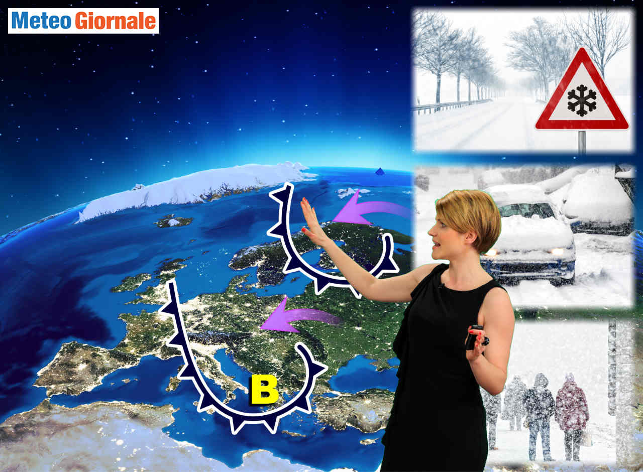 meteo dal cupo inverno iniziato - Meteo, concretizzazione del GELO sin sull'Italia