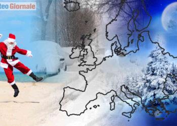 Meteo invernale tra Natale e Capodanno, con mitezza spazzata via dal freddo.