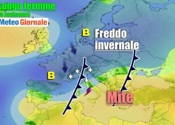 Ipotesi previsionale meteo lungo termine.