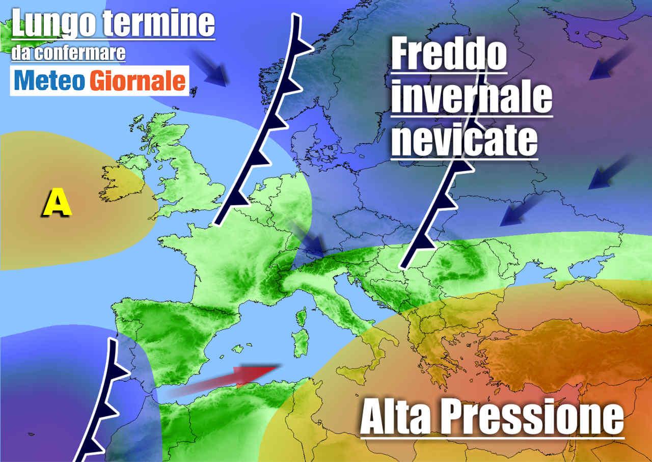 meteo lungo termine variabile - Meteo Italia: Natale conteso tra freddo e Alta Pressione. Poi ampi cambiamenti