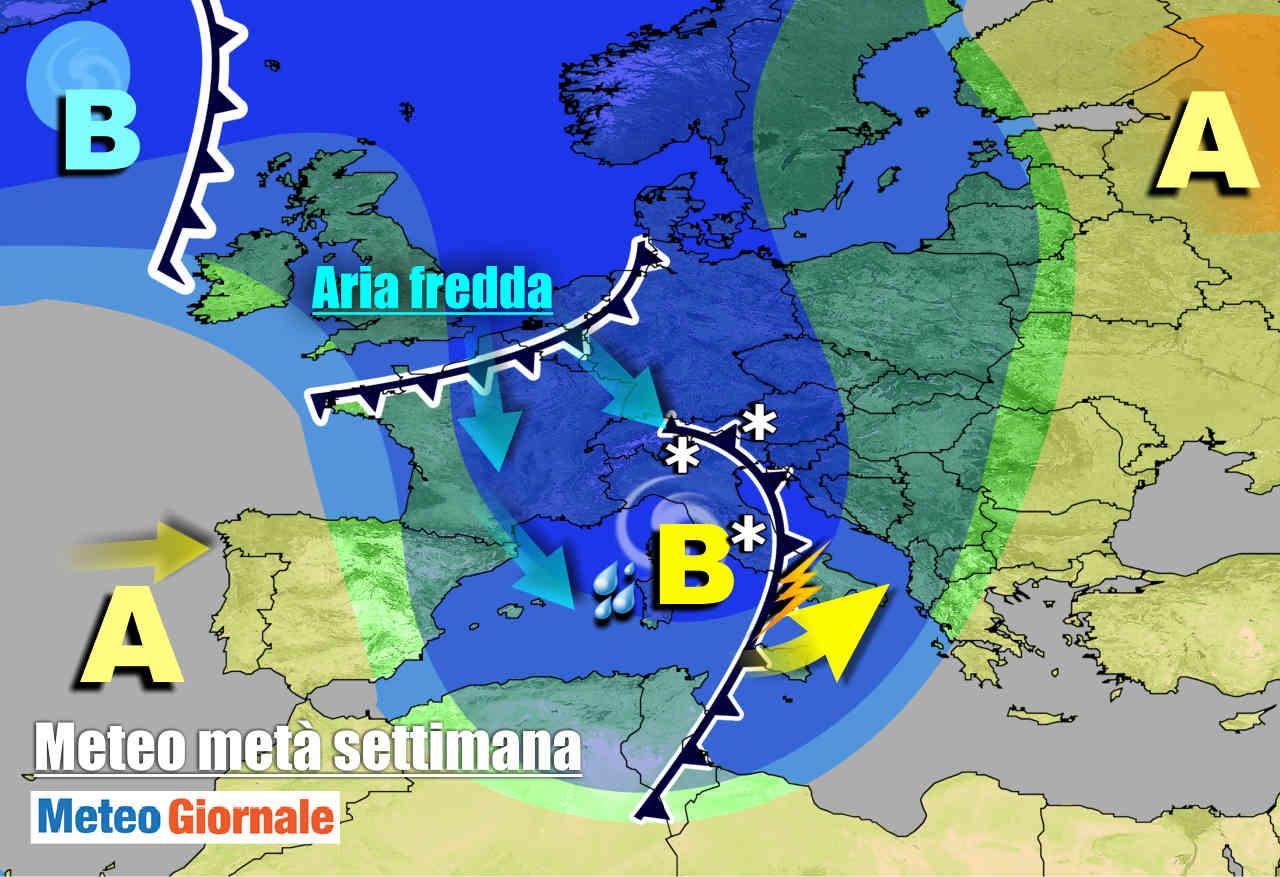 meteogiornale 7 g 7 - METEO Italia. Pioggia e neve per il resto della settimana, ancora maltempo
