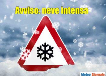 Notte in arrivo con grande neve su parte della Val Padana