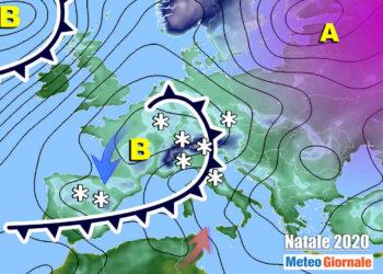 Trend meteo Natale 2020: uno dei vari scenari da valutare.