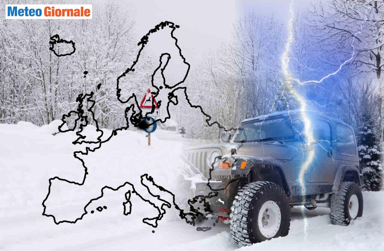 evoluzione meteo neve europa 1 - Meteo con Gelo in Europa. Quali e perché potrebbero esserci situazioni favorevoli