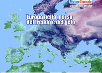 Gran parte d'Europa con temperature ampiamente sottozero