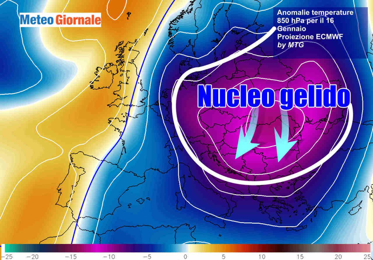 gelo europa ecmwf 16 gennaio - Meteo esplosivo, dal FREDDO ARTICO al GELO RUSSO