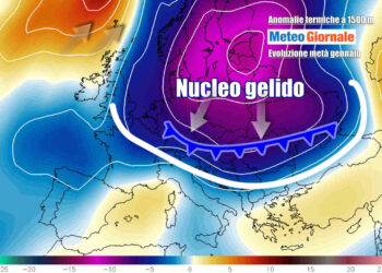 Gelo in arrivo sull'Europa e sull'Italia a metà gennaio, è solo un'ipotesi