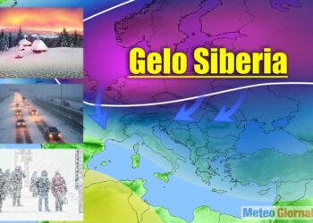 Intrusione di gelo siberiano in Europa.