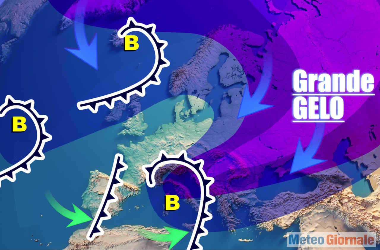 meteo 00045 - Meteo: Freezer verso l'Europa. Italia a rischio gelo