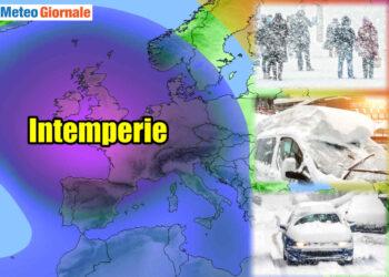 meteo con intemperie natalizie 350x250 - Meteo: in arrivo neve copiosa sulle Alpi e fiocchi fino alla pianura