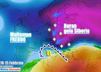 Meteo Febbraio con rischio Buran. Proiezioni centri meteo internazionali, da confermare.
