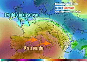 La fase molto mite su gran parte d'Italia attesa verso metà settimana e fino a parte del weekend