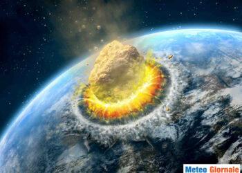 Rappresentazione iconica di impatto asteroide