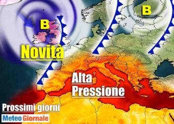 Fase più calda anticiclonica nei prossimi giorni