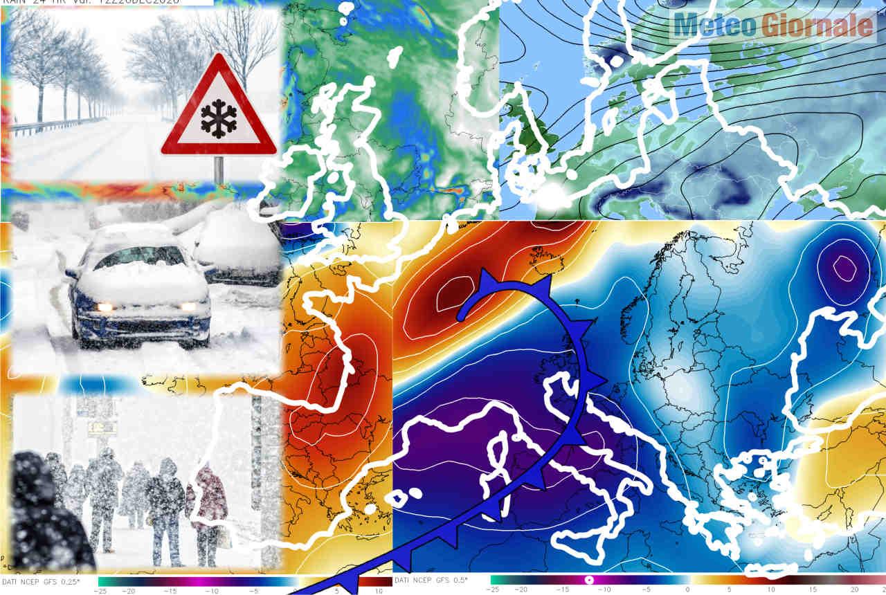 meteo neve con in varie occasioni - Per la Neve in Italia non serve il Gelo Russo, si veda in Spagna