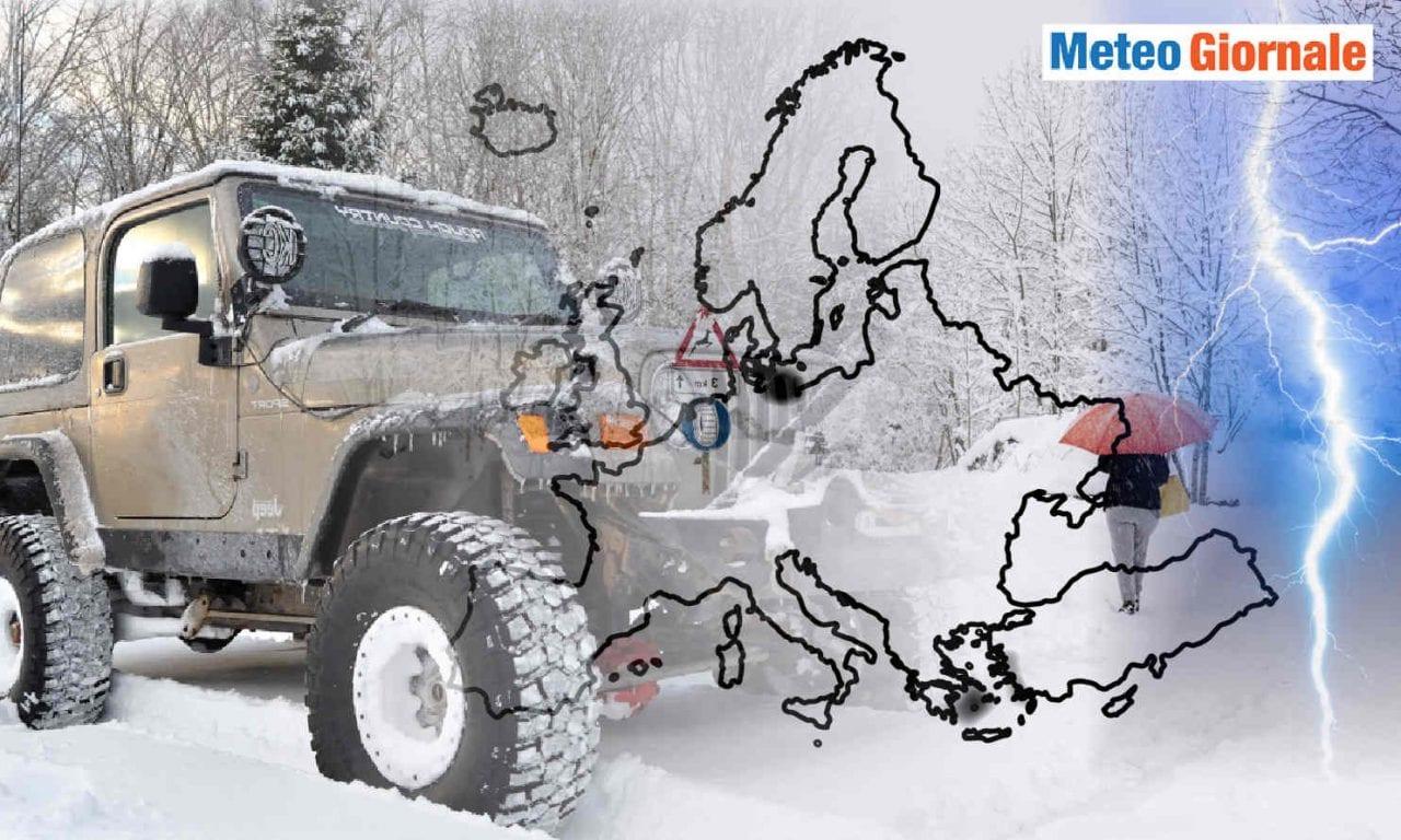 meteo neve italia ed europa 1 scaled 1 - Durata del freddo sull'Italia. Novità meteo della prossima settimana