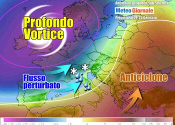 Evoluzione meteo verso il maltempo del weekend