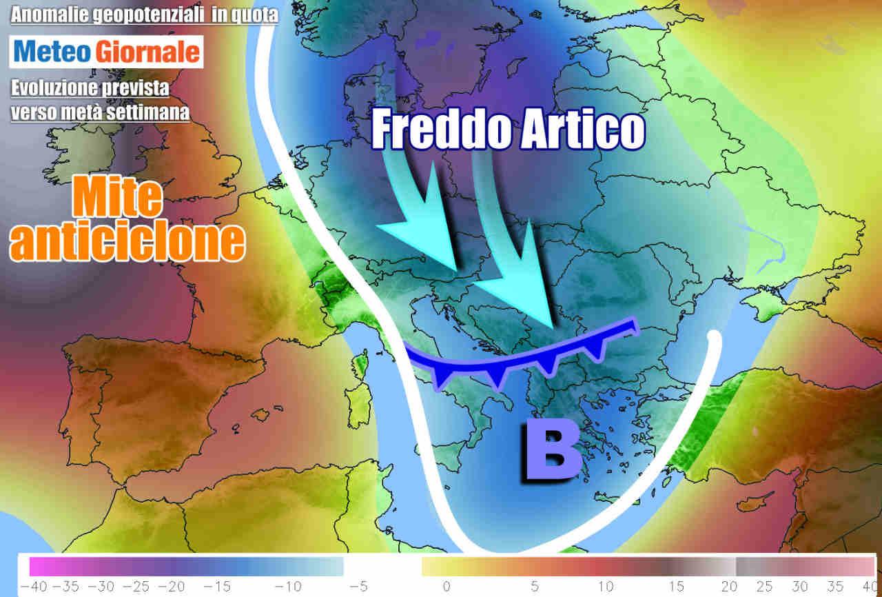 meteogiornale 7 g 9 - METEO verso FREDDO ad inizio settimana, poi novità