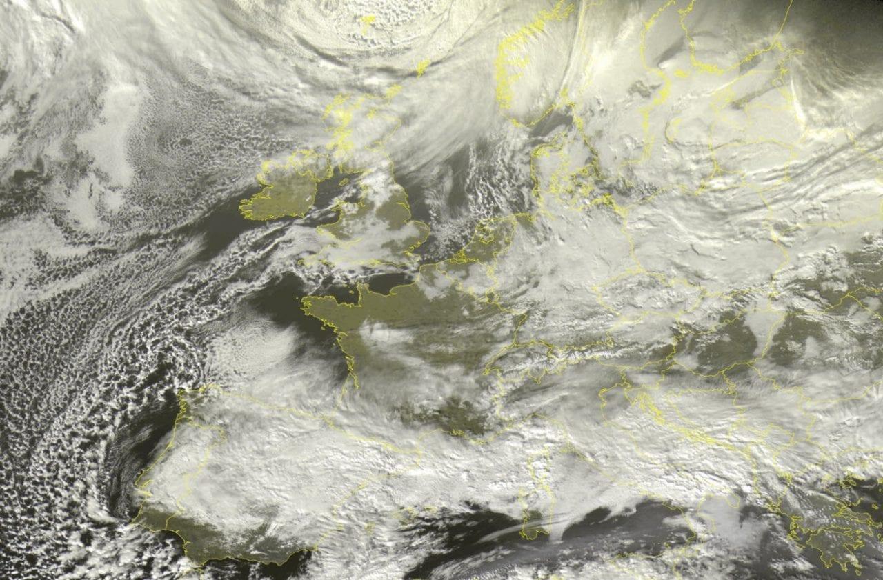 meteosat 09 01 2021 scaled 1 - TEMPESTA di Neve spagnola verso Italia. Effetti sul meteo