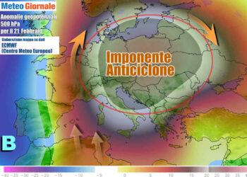 Dal weekend l'anticiclone giganteggerà su oltre mezza Europa