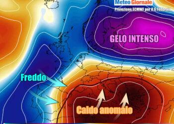 Grandi contrasti termici in Europa nell'ultima parte della settimana