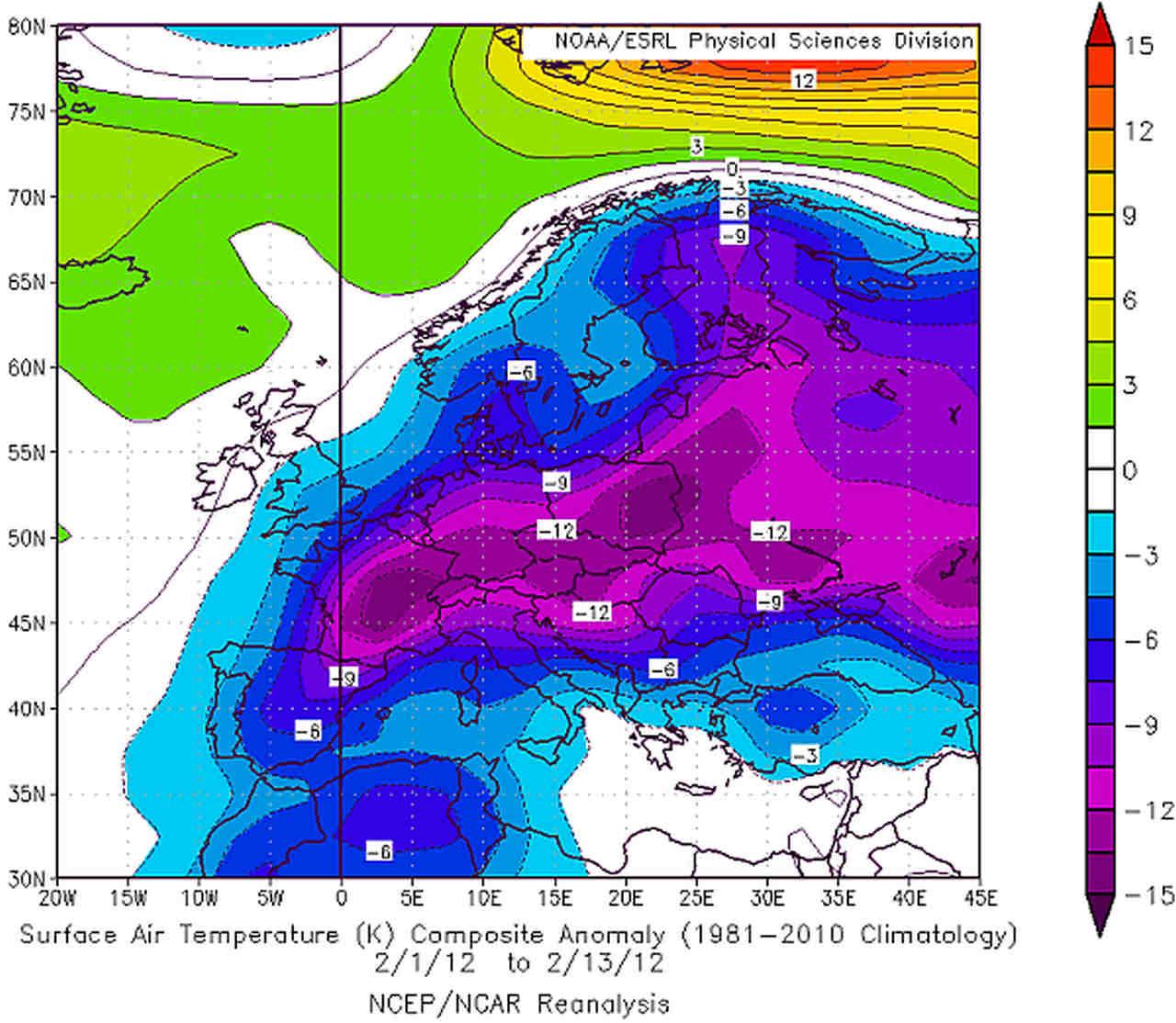 feb 2012 - Storiche ondate di Gelo a confronto: Febbraio 2012 contro Febbraio 1956