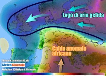 Evoluzione meteo per il weekend con il gelo sulle nazioni settentrionali dell'Europa