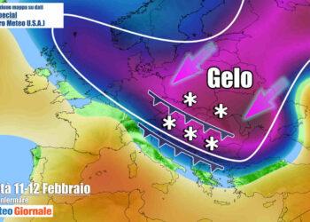 Gelo in avvicinamento a Italia.