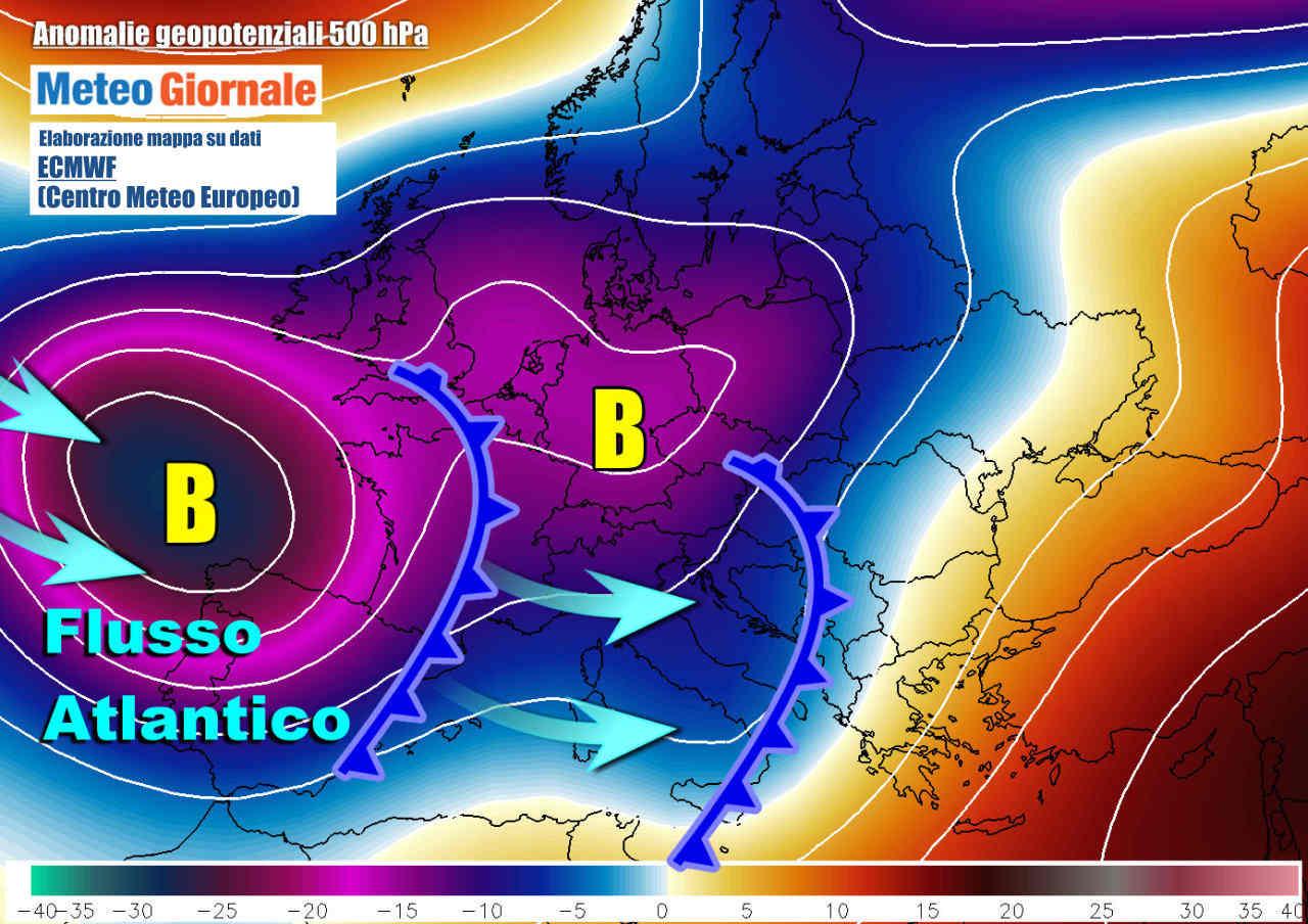 maltempo - Italia meteo torna forte  il maltempo atlantico prima del grande freddo