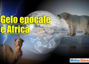Meteo con gelo epocale e caldo africano.