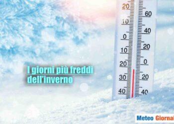 Clima gelido su gran parte d'Italia