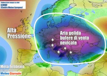 meteo lungo termine 350x250 - Meteo Febbraio, favorevole al Gelo Siberia in Europa