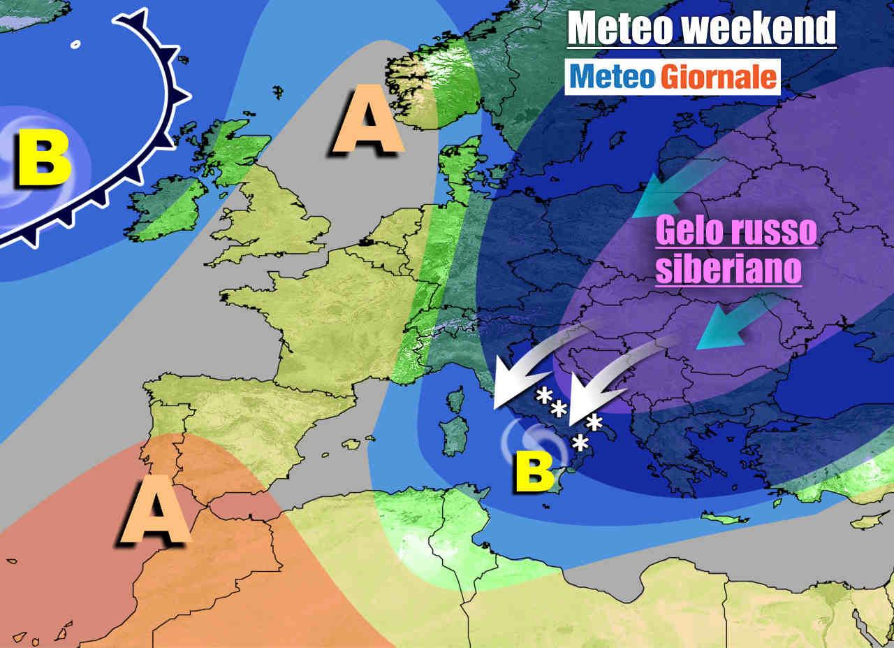 meteogiornale 7 g 12 - METEO Italia. IMMINENTE gelo russo e neve sino in pianura nel weekend, e ancora