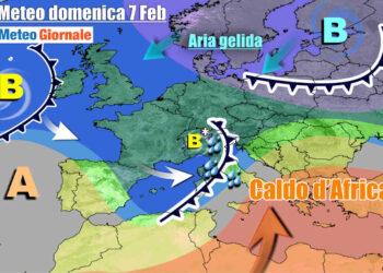Evoluzione meteo tra sabato e domenica