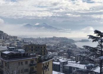 La neve su Napoli