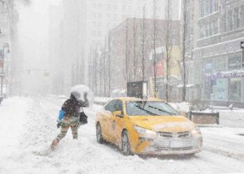 La grande nevicata su New York