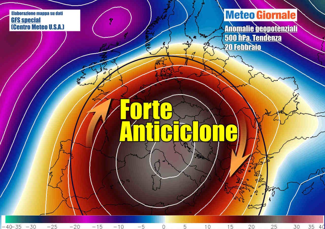 tendenza 20 Febbraio - DURATA del grande freddo. Aggiornamento. Incipiente bolla d'aria da Ovest