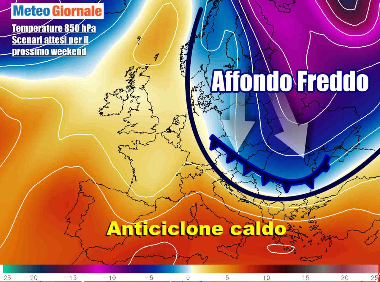 weekend 28 febbraio - Weekend con primi cenni di cambiamento meteo, dopo strapotere anticiclone
