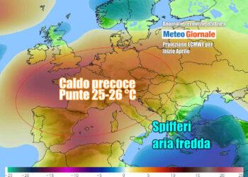 Ondata di caldo all'apice nei prossimi giorni