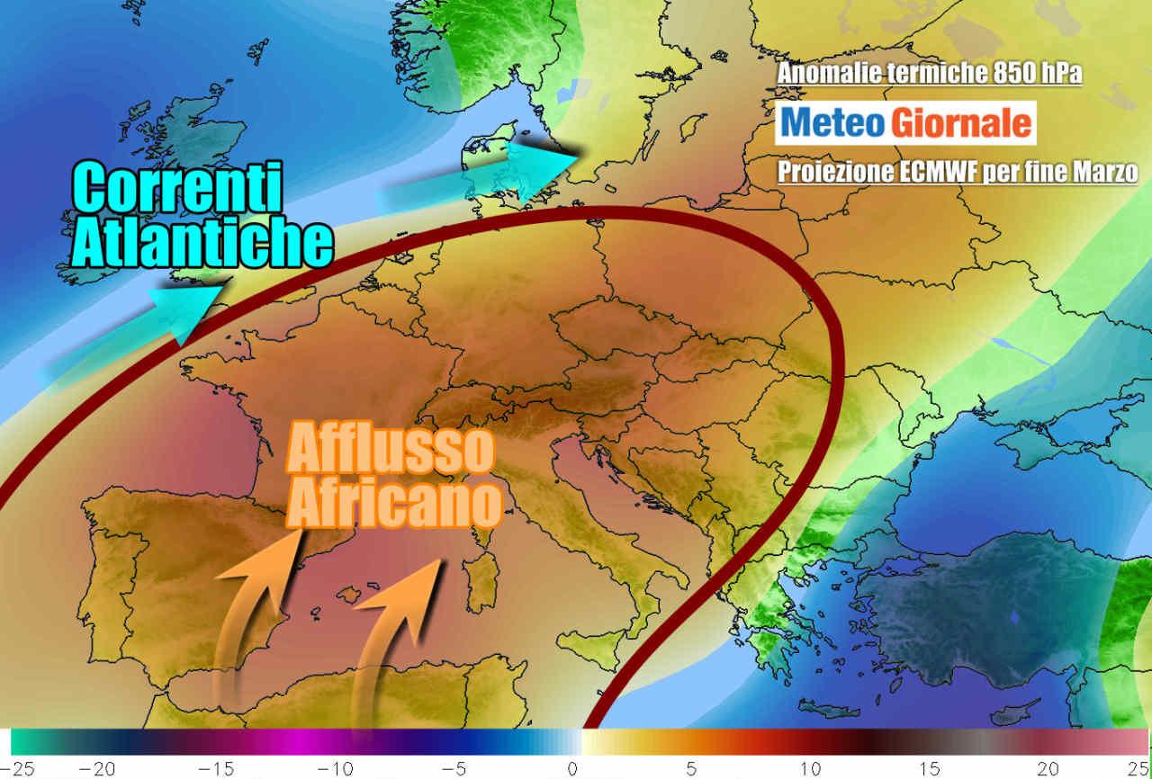 caldo fine marzo - Meteo marzo cambia volto, ancora estremi folli: dal FREDDO al CALDO precoce