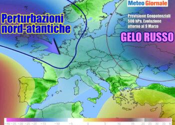 Prospettive meteo per la prossima settimana, con l'Italia nel mirino di fronti perturbati dall'Atlantico