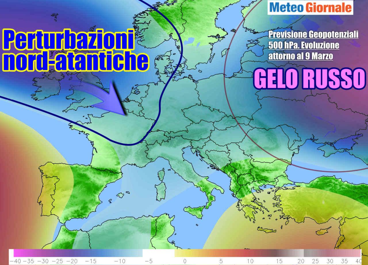 evoluzione prossima settimana - Meteo weekend in peggioramento, con brusco calo termico. E poi?