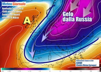 Oltre mezza Europa alle prese con termiche molto basse e inferiori a zero gradi