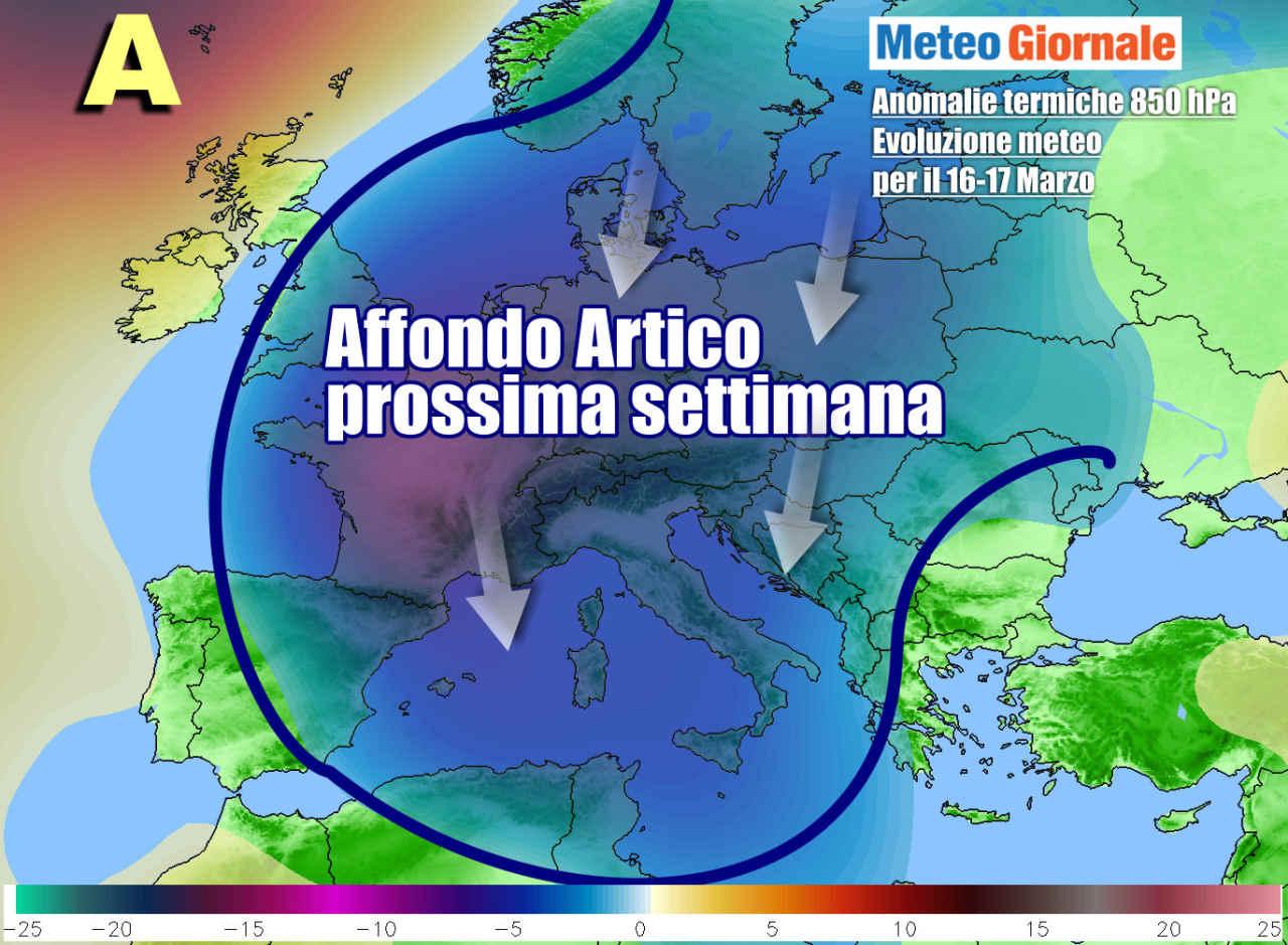 irruzione artica marzo - FREDDO dall'Artico verso l'Italia dal 15 Marzo. Meteo d'Inverno