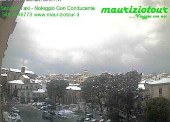 Ecco come appariva ben imbiancata Lanciano in Abruzzo, poco sotto i 300 metri