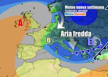 Scenario meteo previsto verso metà settimana