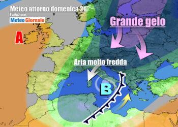 Grande freddo sull'Italia anche dopo il weekend